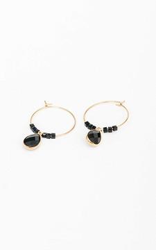 Ohrringe Olivia - Ohrringe mit schwarzen Steinchen