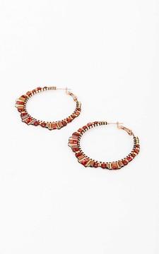 Earrings Aron - Beaded hoop earrings