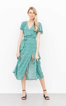 Dress Jenneke - Patterned maxi dress with a split