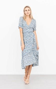 Dress Liselotte - Floral wrap-around dress