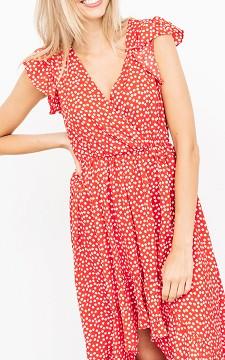 Dress Ricky - Patterned, a-symmetrical dress