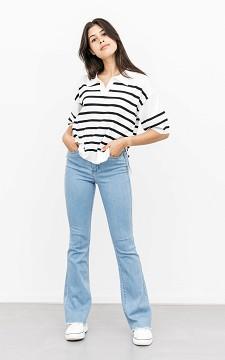 Jeans Flora - High-waist, flared jeans