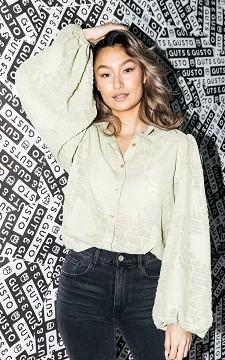 Bluse Roxy - Transparente Bluse mit Perlenknöpfen