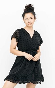 Kleid Fienna - Minikleid mit Samt-Punkten