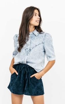 Bluse Mirjan - Denim-Bluse mit Druckknöpfen