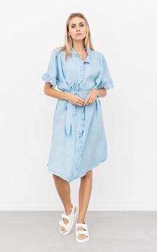 Jurk Frankie - Linnen jurk met kanten details
