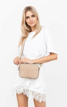 Tasche Bodile - Kleine Wildleder-Tasche mit Reißverschluss