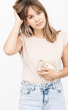 Purse Mona - Metallic purse with a snap button