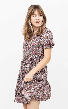 Kleid Glennis - Florales Kleid mit Knöpfen