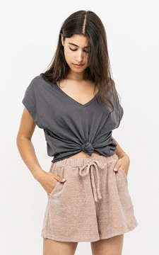 Shirt Luna - Basic shirt met v-hals