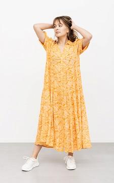 Kleid Bernadet - Lässiges Maxikleid mit Perlen-Knöpfen